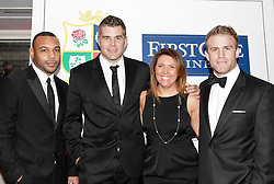 © Licensed to London News Pictures. 31/10/2012. London, U.K. .harlequins rugby players Jordan Turner-hall (l ) , Nick Esater (left centre) and Will Skinner ( far right) joined the star studded line-up for the Ugo Monye Halloween Ball supported by FIRSTCAPE WINE at Grovesnor House Hotel, Park Lane, London this evening (31/10/2012). An auction was held to raise money for Ugo Monye's selected charities: Help a capital child and The Rugby players benevolent fund..Photo credit : Rich Bowen/LNP
