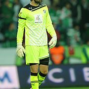 Bursaspor's goalkeeper Scott Paul CARSON during their Turkish soccer superleague match Bursaspor between Trabzonspor at Ataturk Stadium in Bursa Turkey on Saturday, 22 October 2011. Photo by TURKPIX