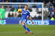 Joe Bennett of Cardiff City in action. EFL Skybet championship match, Cardiff city v Brighton & Hove Albion at the Cardiff city stadium in Cardiff, South Wales on Saturday 3rd December 2016.<br /> pic by Andrew Orchard, Andrew Orchard sports photography.