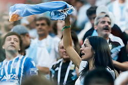 June 26, 2018 - Saint Petersburg, Russia - Argentina supporters during the 2018 FIFA World Cup Russia group D match between Nigeria and Argentina on June 26, 2018 at Saint Petersburg Stadium in Saint Petersburg, Russia. (Credit Image: © Mike Kireev/NurPhoto via ZUMA Press)
