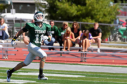17 September 2011: Erich Bushong looks up to track a punt during an NCAA Division 3 football game between the Aurora Spartans and the Illinois Wesleyan Titans on Wilder Field inside Tucci Stadium in.Bloomington Illinois.