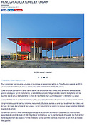 Publication sur l'Amphithéâtre de Trois Rivieres par l'Architecte Paul Laurendeau dans Le Journal de l'Architecte, section Projets Internationaux - Renouveau Culturel et Urbain  -   / Trois-Rivieres / Canada / 2017-12-08, © Photo Marc Gibert / adecom.ca