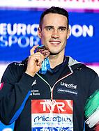 SCOZZOLI Fabio Italy ITA Bronze Medal<br /> 100 breaststroke men Final<br /> Glasgow 07/12/2019<br /> XX LEN European Short Course Swimming Championships 2019<br /> Tollcross International Swimming Centre<br /> Photo  Giorgio Scala / Deepbluemedia / Insidefoto