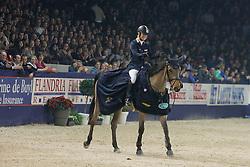 Kurten Jessica (IRL) - Castle Forbes Myrtille Paulois<br /> Winner of the Rolex FEI World Cup Qualifier<br /> Jumping Mechelen 2010<br /> © Dirk Caremans