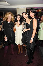 Left to right, KELLY HOPPEN, CHLOE BAIRD-MURRAY, YASMIN MILLS and ASSIA WEBSTER at a party to promote Marie Claire magazine Inspire & Mentor Campaign held at The Loft, The Ivy Club, West Street, London on 30th March 2010.