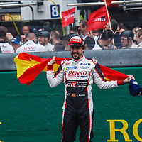 Fernando Alonso #8 Toyota, on 17/06/2018 at the 24H of Le Mans, 2018