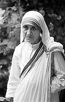 Mother Teresa seen in Calcutta India in 1969. Photographed by Terry Fincher