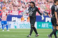 Rene Higuita during the last match to be played by Atletico de Madrid at Vicente Calderon Stadium in Madrid, May 28, 2017. Spain.. (ALTERPHOTOS/Rodrigo Jimenez)