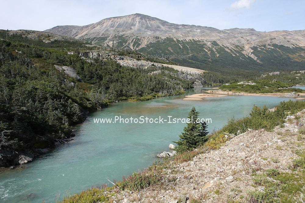 Alaska, USA. The White Pass and Yukon Route from Skagway to Whitehorse
