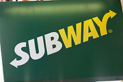 Sign for food chain Subway.