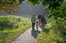 © Licensed to London News Pictures 16/09/2021. <br /> Sidcup, UK, People out and about in the morning September sun at Footscray Meadows in Sidcup, South East London. Photo credit:Grant Falvey/LNP