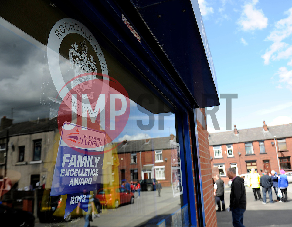 Rochdale AFC Club Shop - Photo mandatory by-line: Dougie Allward/JMP - Mobile: 07966 386802 23/08/2014 - SPORT - FOOTBALL - Manchester - Spotland Stadium - Rochdale AFC v Bristol City - Sky Bet League One