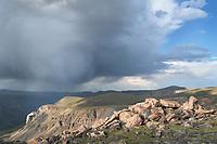 Storm over Beartooth Mountains Montana
