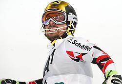 26.01.2016, Planai, Schladming, AUT, FIS Weltcup Ski Alpin, Schladming, Slalom, Herren, 2. Durchgang, im Bild Marcel Hirscher (AUT) // Marcel Hirscher of Austria reacts after his 2nd run of men's Slalom Race of Schladming FIS Ski Alpine World Cup at the Planai in Schladming, Austria on 2016/01/26. EXPA Pictures © 2016, PhotoCredit: EXPA/ Erich Spiess