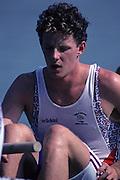 Barcelona, SPAIN.   GBR  M8+,  Rupert OBHOLZER, .1992 Olympic Rowing Regatta Lake Banyoles, Catalonia [Mandatory Credit Peter Spurrier/ Intersport Images]