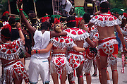 People dancing in the streets, Kingston carnival, Jamaica