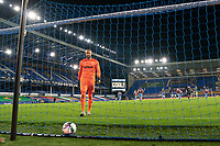 Football - 2020 / 2021 League (Carabao) Cup - Round 4 - Everton vs West Ham United - Goodison Park<br /> <br /> West Ham United's Darren Randolph collects the ball from the goal following Everton's Richarlison scoring<br /> <br /> COLORSPORT/TERRY DONNELLY