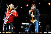 The Journey cover band Evolution performs at the 2009 Bamboozle Music Festival in East Rutherford, New Jersey. May 2, 2009.