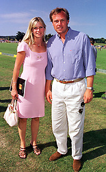 The MARQUESS & MARCHIONESS OF MILFORD HAVEN at a polo match in West Sussex on 18th July 1999.MUH 128