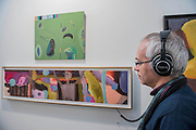 Sound and vision works in a collaboration between Brian Eno and Beezy Bailey in the Perve Gallery -  The 29th edition of London Art Fair takes place in the Business and Design Centre, Islington, from18-22January 2017.