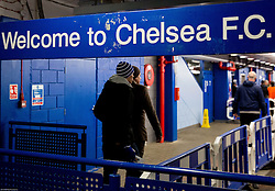 Fans coming to the stadium prior to the football match between Chelsea FC and NK Maribor, SLO in Group G of Group Stage of UEFA Champions League 2014/15, on October 21, 2014 in Stamford Bridge Stadium, London, Great Britain. Photo by Vid Ponikvar / Sportida.com