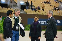 HRH Princess Haya (JOR), HRH Prince Abdullah Al Saud (KSA), Roche John (GBR), Van Iersel Rogier (NED)<br /> Rolex FEI World Cup Final - Geneve 2010<br /> © Dirk Caremans