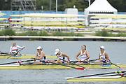 Eton Dorney, Windsor, Great Britain,..2012 London Olympic Regatta, Dorney Lake. Eton Rowing Centre, Berkshire[ Rowing]...Description;   USA W4X Bronze medalist, Natelie DELL, Kara HOLER, Megan KALMOE and Adrienne MARTELLI.    Dorney Lake...12:16:49  Wednesday  01/08/2012..[Mandatory Credit: Peter Spurrier/Intersport Images].