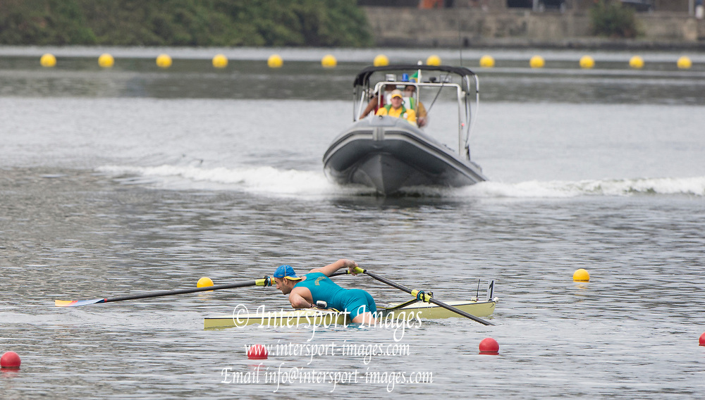 "Rio de Janeiro. BRAZIL.   2016 Olympic Rowing Regatta. Lagoa Stadium,<br /> Copacabana,  ""Olympic Summer Games""<br /> Rodrigo de Freitas Lagoon, Lagoa.   Monday  08/08/2016 <br /> <br /> [Mandatory Credit; Peter SPURRIER/Intersport Images]"