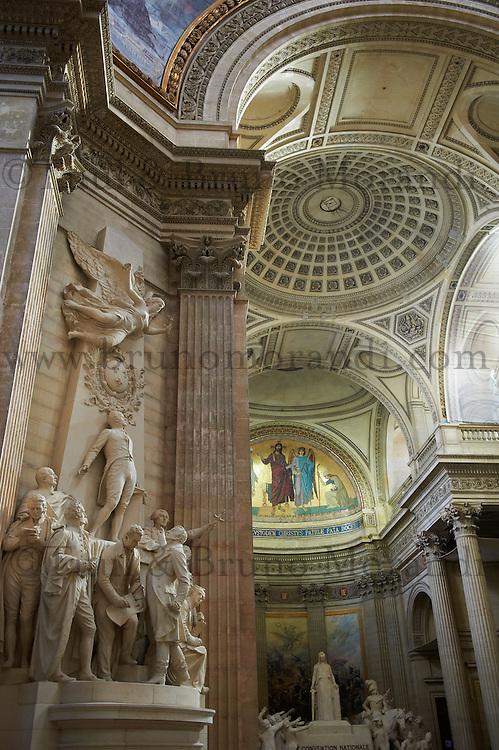 France, Paris (75), quartier Latin, le Pantheon // France, Paris, interior of the Pantheon