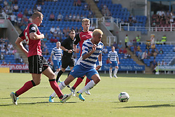 Reading's Daniel Williams on a run at goal - Photo mandatory by-line: Nigel Pitts-Drake/JMP - Tel: Mobile: 07966 386802 03/08/2013 - SPORT - FOOTBALL -  Madejski Stadium - Reading -  Reading v Ipswich Town - Sky Bet Championship