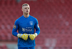 WREXHAM, WALES - Thursday, September 17, 2020: Connah's Quay Nomads' goalkeeper Lewis Brass during the UEFA Europa League Second Qualifying Round match between Connah's Quay Nomads FC and FC Dinamo Tbilisi at the Racecourse Ground. Dinamo Tiblisi won 1-0. (Pic by David Rawcliffe/Propaganda)