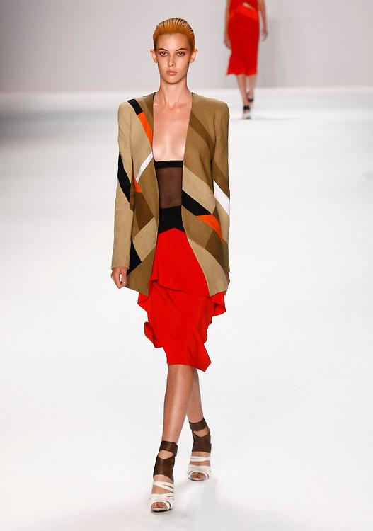 Models walk the runway for Narciso Rodriguez Spring 2012 fashion show during New York Fashion Week, NYC, NY, USA. 13/09/2011 Kevin Kane/CatchlightMedia