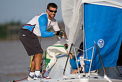 2008 Monsoon Cup. First round robins. Ian Percy on the bow of team Origin (Wednesday 3rd December 2008). .