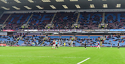 A general view of the match action during the Emirates FA Cup, third round match at Turf Moor, Burnley.