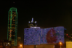 Expanded Cinema Video show by Frank Campagna at Omni Hotel, downtown Dallas, Texas, USA.