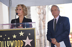 Michael Douglas at the Walk of Fame ceremony honoring Michael Douglas with a star on Hollywood Blvd on November 6, 2018 in Hollywood, CA. 06 Nov 2018 Pictured: Jane Fonda and Michael Douglas. Photo credit: O'Connor/AFF-USA.com / MEGA TheMegaAgency.com +1 888 505 6342