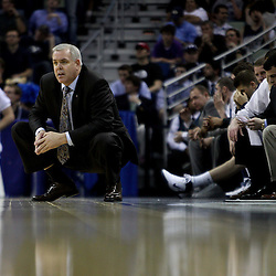 Mar 24, 2011; New Orleans, LA; Brigham Young Cougars head coach David Rose against the Florida Gators during the second half of the semifinals of the southeast regional of the 2011 NCAA men's basketball tournament at New Orleans Arena. Florida defeated BYU 83-74.   Mandatory Credit: Derick E. Hingle