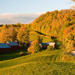 The Jenne Farm in Woodstock, Vermont.  Fall.
