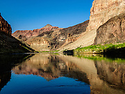 Reflections near Whitmore Wash, Colorado River Mile 188 in Grand Canyon National Park, Arizona, USA. Day 14 of 16 days rafting 226 miles down the Colorado River.