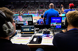 12.06.2018, Porsche Arena, Stuttgart<br /> Volleyball, Volleyball Nations League, Türkei / Tuerkei vs. Niederlande<br /> <br /> Feature Anzeige / Screen / Entertainment<br /> <br /> Foto: Conny Kurth / www.kurth-media.de