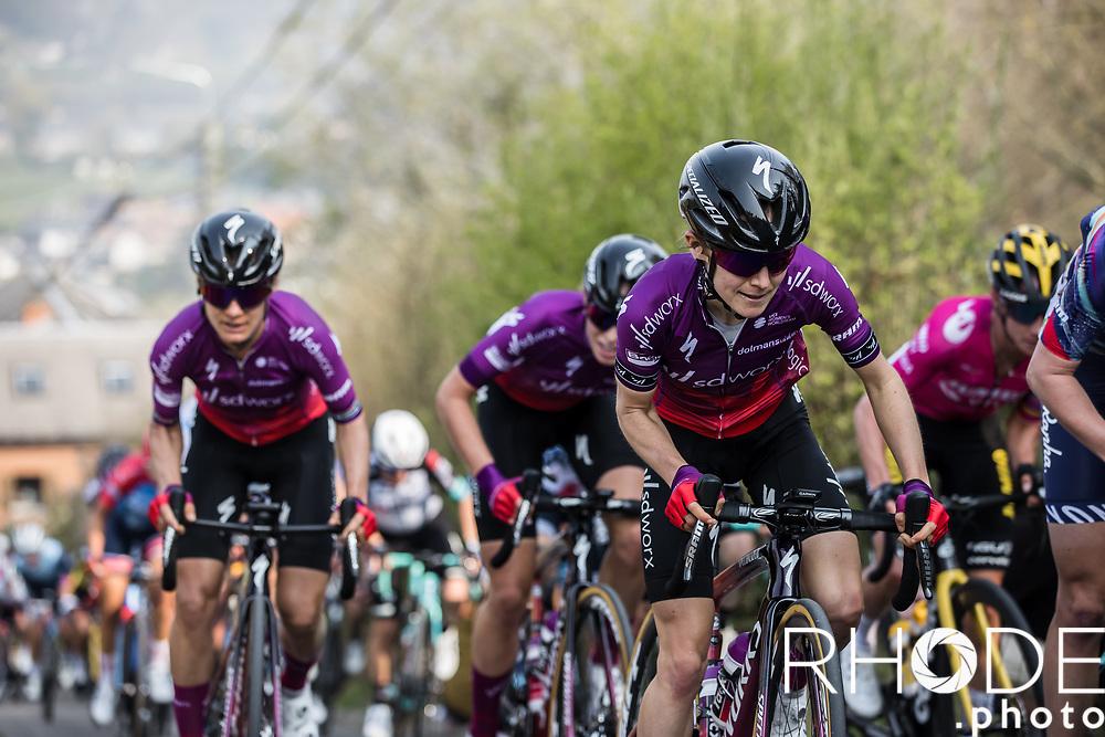 Niamh Fisher-Black (AUS/SDWorx), <br /> <br /> 24th la Flèche Wallonne Féminin 2021 (1.UWT)<br /> 1 Day Race: Huy – Huy 130,5km<br /> <br /> ©RhodePhoto