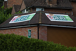 Chesham, UK. 16th June, 2021. Campaign banners for the Green Party candidate Carolyne Culver are pictured on the eve of the Chesham and Amersham by-election. The by-election was triggered by the death of Dame Cheryl Gillan, who had been the constituency's MP for 29 years, and it is expected to be a tight race between the Conservatives and the Liberal Democrats.