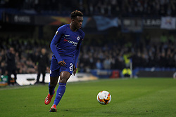 February 21, 2019 - London, Greater London, United Kingdom - Callum Hudson-Odoi during UEFA Europa League Round of 32 2nd Leg between Chelsea and Malmo FF at Stamford Bridge stadium, London, England on 21 Feb 2019. (Credit Image: © Action Foto Sport/NurPhoto via ZUMA Press)