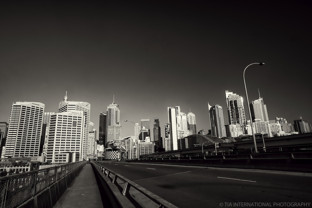 Sydney Skyline from Western Distributor Freeway