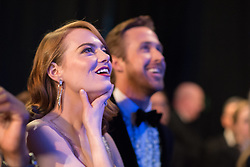 February 26, 2017 - Hollywood, California,U.S. - EMMA STONE and RYAN GOSLING in the audience during the 89th Annual Academy Awards.(Credit Image: © Ampas/AdMedia via ZUMA Wire)