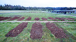 Rows of graves have been prepared by mechanical diggers in Sixmile Cemetery in Antrim town as the Covid-19 death toll continues to rise.