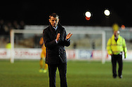 Hartlepool Utd manager Colin Cooper looks on after the game. Skybet football league two match, Newport county v Hartlepool Utd at Rodney Parade in Newport , South Wales on Friday 15th November 2013. pic by Andrew Orchard, Andrew Orchard sports photography,