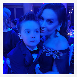 """Alyssa Milano releases a photo on Twitter with the following caption: """"""""Milo was my date to #UnicefSnowflake Ball. <br /> <br /> I can't think of a better way to spend an evening. <br /> <br /> Children helping children.  #StartsWithU"""""""". Photo Credit: Twitter *** No USA Distribution *** For Editorial Use Only *** Not to be Published in Books or Photo Books ***  Please note: Fees charged by the agency are for the agency's services only, and do not, nor are they intended to, convey to the user any ownership of Copyright or License in the material. The agency does not claim any ownership including but not limited to Copyright or License in the attached material. By publishing this material you expressly agree to indemnify and to hold the agency and its directors, shareholders and employees harmless from any loss, claims, damages, demands, expenses (including legal fees), or any causes of action or allegation against the agency arising out of or connected in any way with publication of the material."""