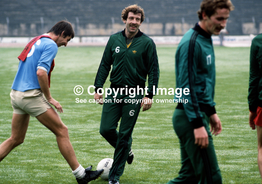 Gerry Armstrong, footballer, Tottenham Hotspur, N Ireland, 198011000361b.<br /> <br /> Copyright Image from Victor Patterson, Belfast, UK<br /> <br /> t: +44 28 9066 1296 (from Rep of Ireland 048 9066 1296)<br /> m: +44 7802 353836<br /> e: victorpattersonbelfast@gmail.com<br /> <br /> www.images4media.com<br /> <br /> Please see my full Terms and Conditions of Use at https://www.images4media.com/p/terms-conditions - it is IMPORTANT that you familiarise yourself with them.<br /> <br /> Images used online incur an additional cost. This cost should be agreed in writing in advance. Online images must be visibly watermarked i.e. © Victor Patterson or that of the named photographer within the body of the image. The original metadata must not be deleted from images used online.<br /> <br /> This image is only available for the use of the download recipient i.e. television station, newspaper, magazine, book publisher, etc, and must not be passed on to a third party. It is also downloaded on condition that each and every usage is notified within 7 days to victorpattersonbelfast@gmail.com.<br /> <br /> The right of Victor Patterson (or the named photographer) to be identified as the author is asserted in accordance with The Copyright Designs And Patents Act (1988). All moral rights are asserted.