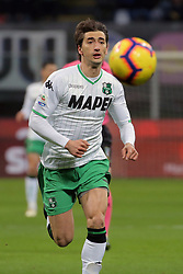 January 19, 2019 - Milan, Milan, Italy - Filip Djuricic #9 of US Sassuolo in action during the serie A match between FC Internazionale and US Sassuolo at Stadio Giuseppe Meazza on January 19, 2019 in Milan, Italy. (Credit Image: © Giuseppe Cottini/NurPhoto via ZUMA Press)